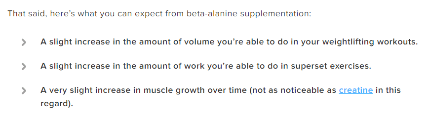 Beta Alanine Benefits Proof