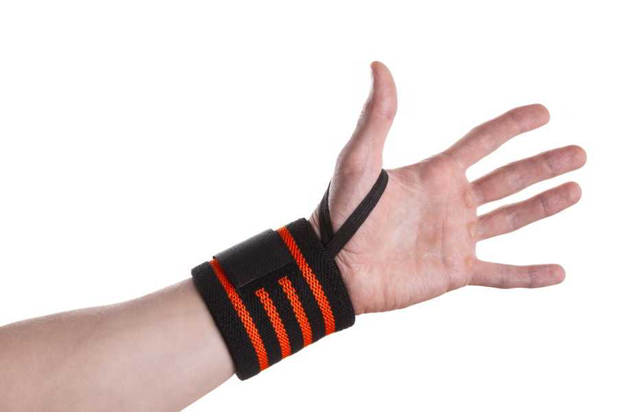 Black And Orange Wrist Wrap