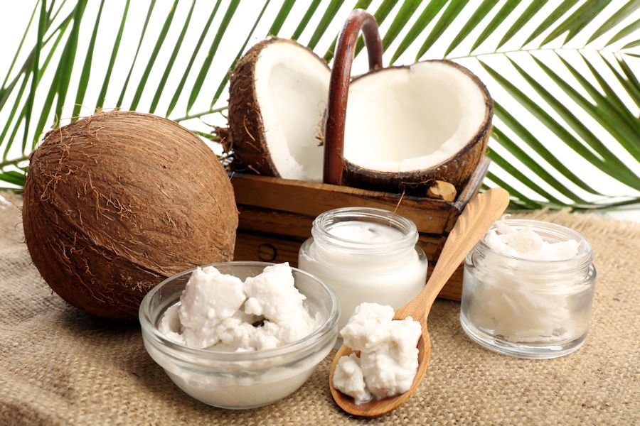 coconut jars and cream
