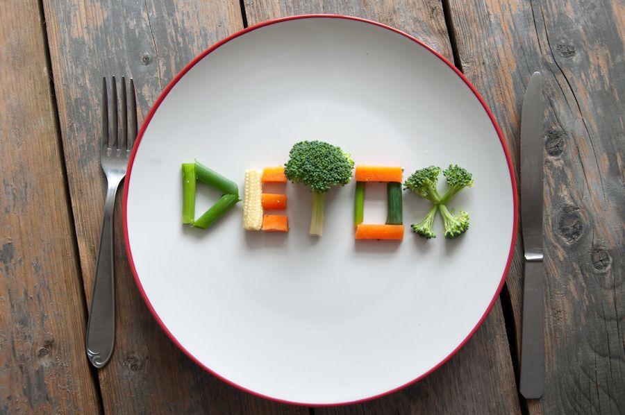 detox written with veggies
