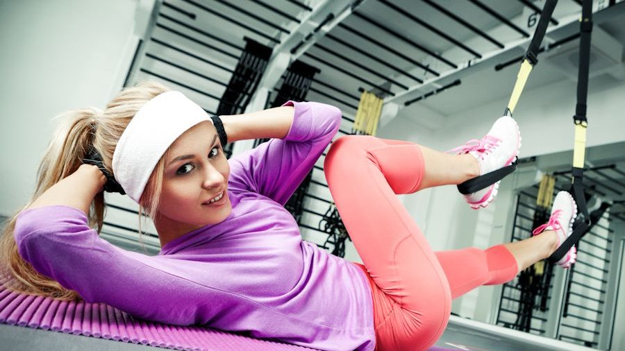 woman doing functional training