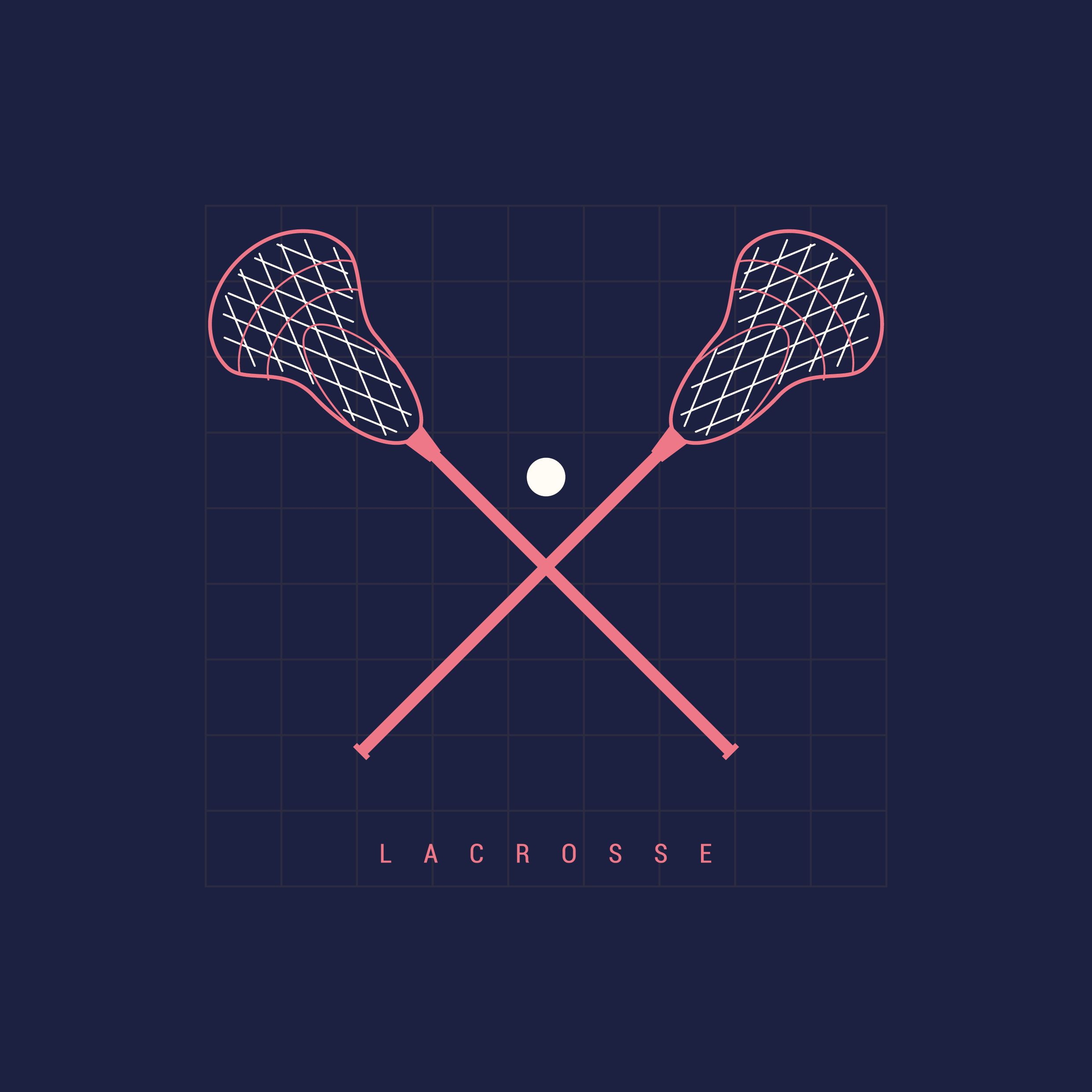 Lacrosse sticks and ball vector