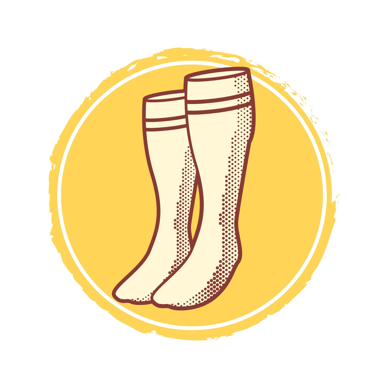 White Long Socks Vector