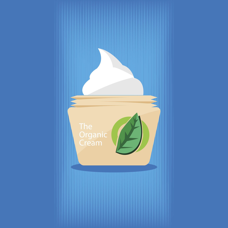 Organic cream vector image